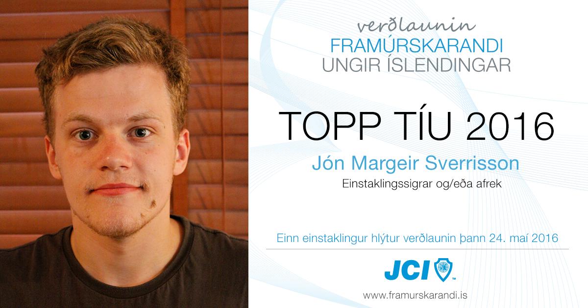 Jón Margeir Sverrisson - Topp 10 2016 - Framúrskarandi ungir Íslendingar
